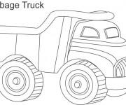 Coloriage et dessins gratuit Jouet Camion Poubelle à imprimer