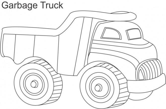 Coloriage et dessins gratuits Jouet Camion Poubelle à imprimer