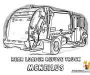 Coloriage et dessins gratuit La Véhicule Camion Poubelle à imprimer