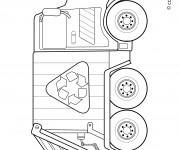 Coloriage le camion de poubelle simple dessin gratuit - Coloriage camion de poubelle ...