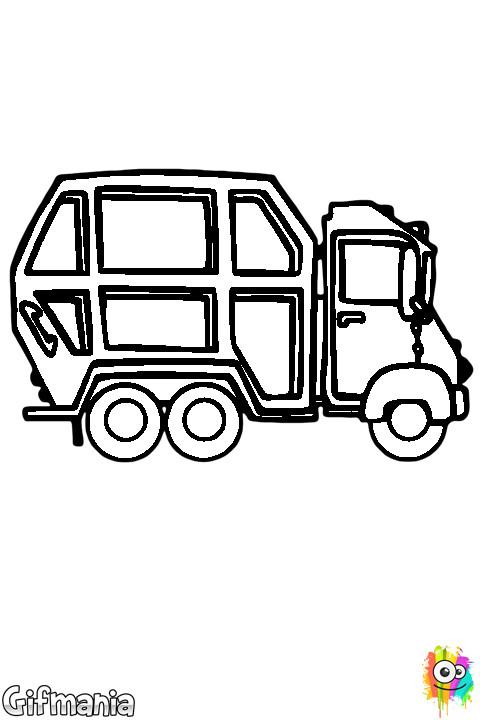 Coloriage et dessins gratuits Petit Camion Poubelle facile à imprimer