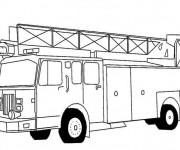 Coloriage et dessins gratuit Un Camion de Pompier américain à imprimer