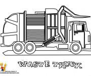Coloriage et dessins gratuit Un Camion  de Poubelle à colorier à imprimer