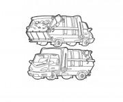 Coloriage et dessins gratuit Un petit Camion Poubelle à imprimer