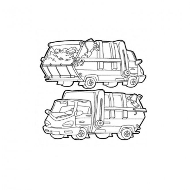 Coloriage et dessins gratuits Un petit Camion Poubelle à imprimer