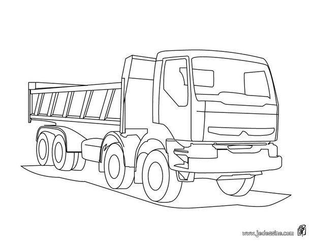 Coloriage camion volvo dessin gratuit imprimer - Coloriage tractopelle a imprimer gratuit ...