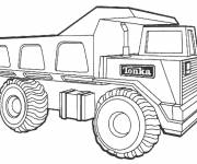 Coloriage Camion 10 roues Tonka