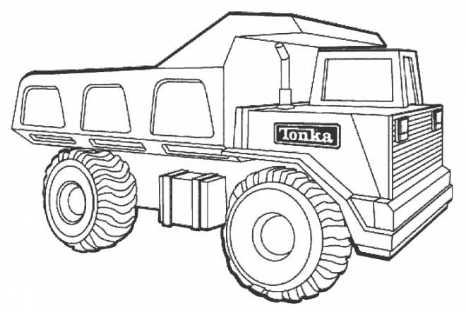 Coloriage et dessins gratuits Camion 10 roues Tonka à imprimer