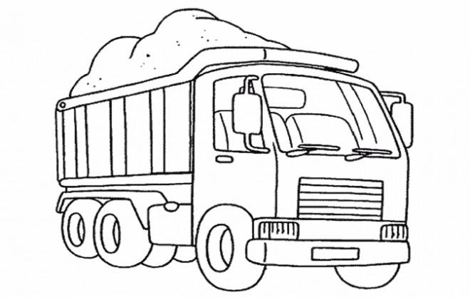 Coloriage Camion 2 dessin gratuit à imprimer