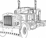 Coloriage et dessins gratuit Camion avec style à imprimer