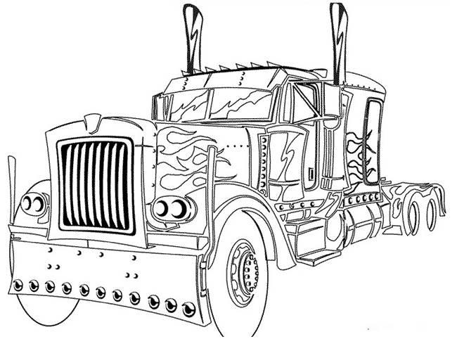 Coloriage camion avec style dessin gratuit imprimer - Dessin de camion a imprimer ...