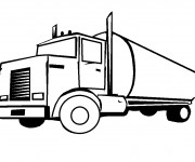 Coloriage et dessins gratuit Camion de pétrole à imprimer