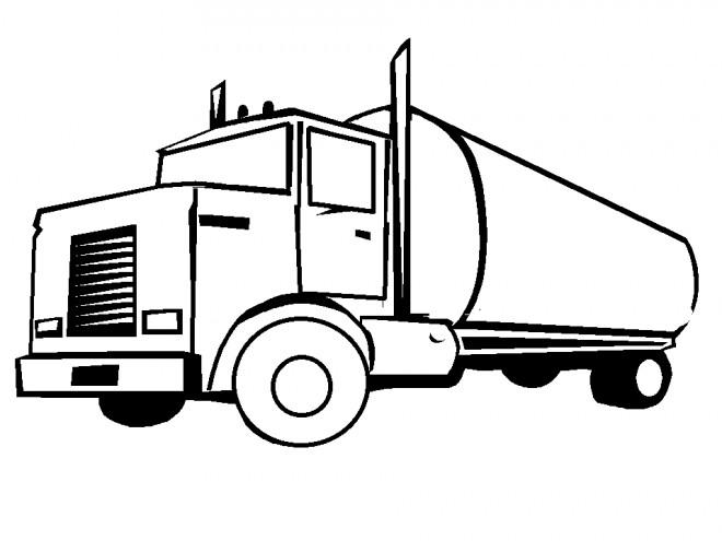 Coloriage et dessins gratuits Camion de pétrole à imprimer
