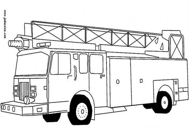 Coloriage Camion De Pompier A Colorier Dessin Gratuit A Imprimer