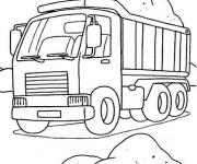 Coloriage et dessins gratuit Camion en ligne à imprimer