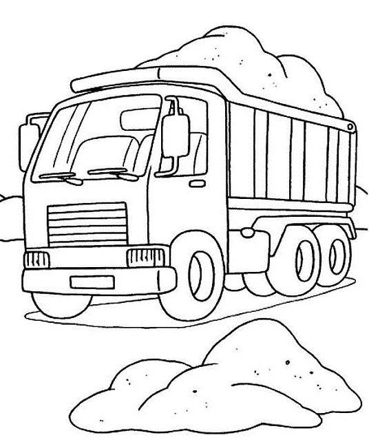 Coloriage et dessins gratuits Camion en ligne à imprimer