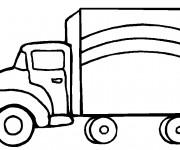 Coloriage et dessins gratuit Camion en vecteur à imprimer