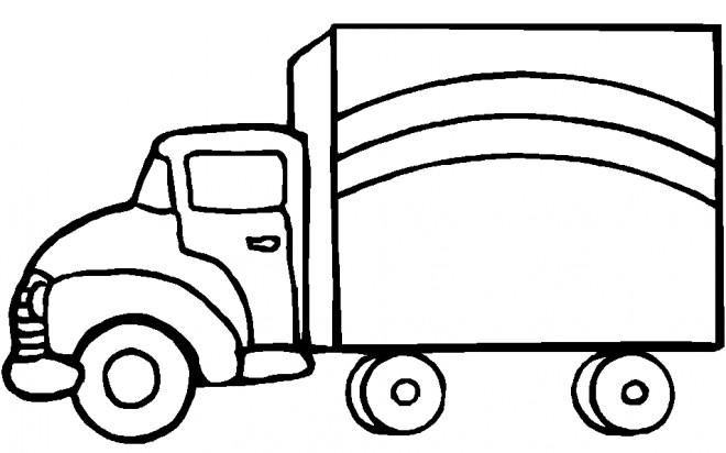 Coloriage et dessins gratuits Camion en vecteur à imprimer