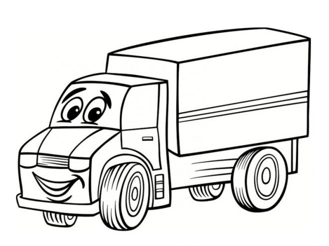 Coloriage et dessins gratuits Camion qui sourit à imprimer