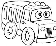 Coloriage et dessins gratuit Camion rigolo à imprimer