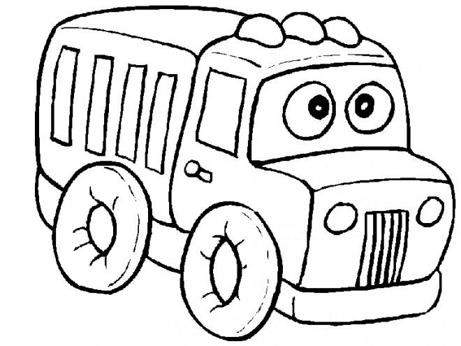Coloriage et dessins gratuits Camion rigolo à imprimer
