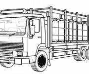 Coloriage et dessins gratuit Camion semi remorque vectoriel à imprimer