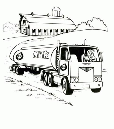 Coloriage Camion Transporte Du Lait Dessin Gratuit A Imprimer