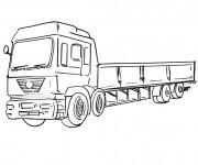 Coloriage Dessin Camion Scania facile