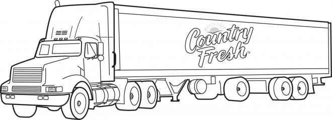 Coloriage et dessins gratuits Image de Camion remorque à imprimer
