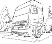 Coloriage Tête de Camion Scania