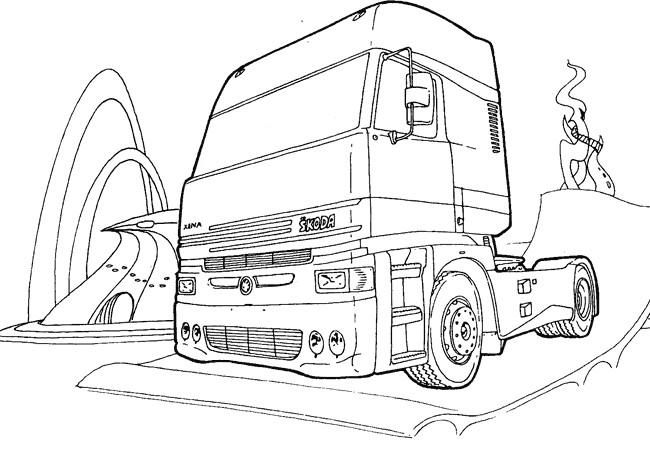 Coloriage et dessins gratuits Tête de Camion Scania à imprimer