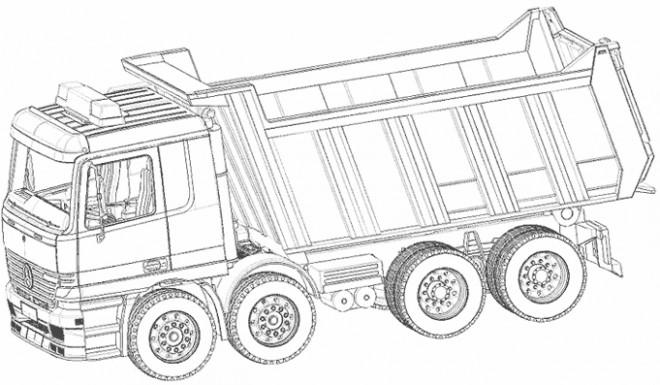Coloriage un camion benne dessin gratuit imprimer - Camion americain dessin ...