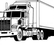 Coloriage et dessins gratuit Un Camion de transport à imprimer