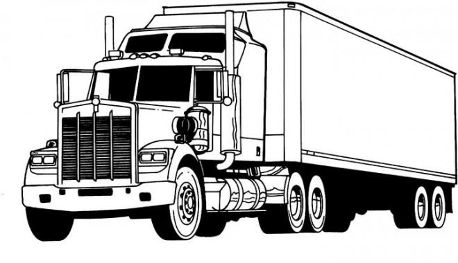 Coloriage et dessins gratuits Un Camion de transport à imprimer