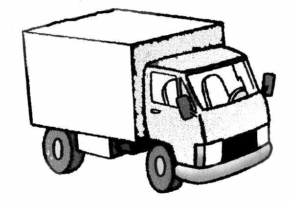 Coloriage un camion remorque simple colorier - Dessin pompier humoristique ...
