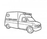 Coloriage et dessins gratuit Une Ambulance à imprimer