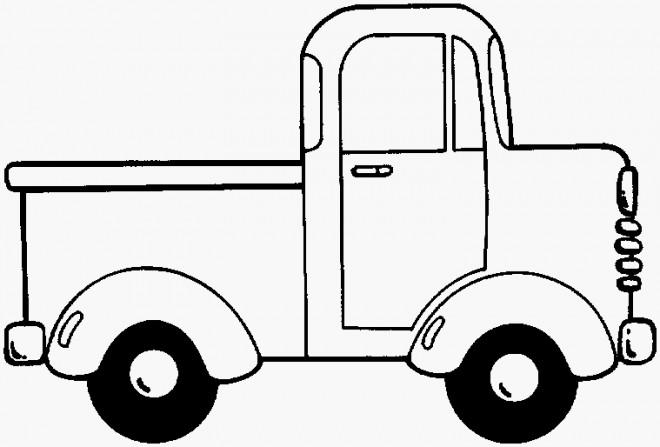 Coloriage Une Camionnette Facile Dessin Gratuit A Imprimer