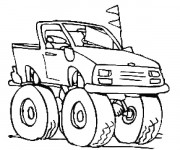 Coloriage Camionnette