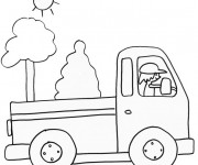 Coloriage Camion au crayon
