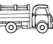 Coloriage Camion couleur