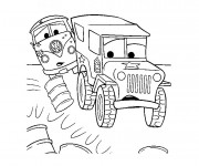 Coloriage Camion de Flash Mcqueen