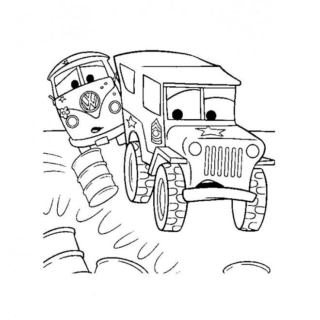 Coloriage et dessins gratuits Camion de Flash Mcqueen à imprimer