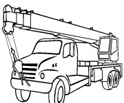 Coloriage et dessins gratuit Camion Grue à imprimer