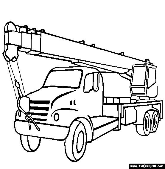 Coloriage et dessins gratuits Camion Grue à imprimer