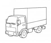 Coloriage et dessins gratuit Camion semi remorque à imprimer