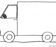 Coloriage Camion tout simple au crayon