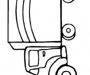 Coloriage et dessins gratuit Camionnette 10 à imprimer