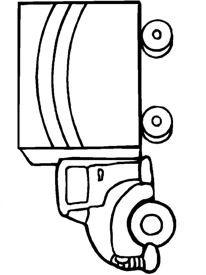 Coloriage et dessins gratuits Camionnette 10 à imprimer