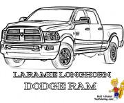 Coloriage et dessins gratuit Camionnette 12 à imprimer