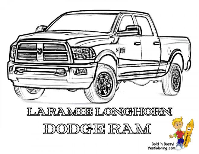 Coloriage Camionte 12 dessin